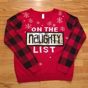 Reversible Sequin Christmas Sweater